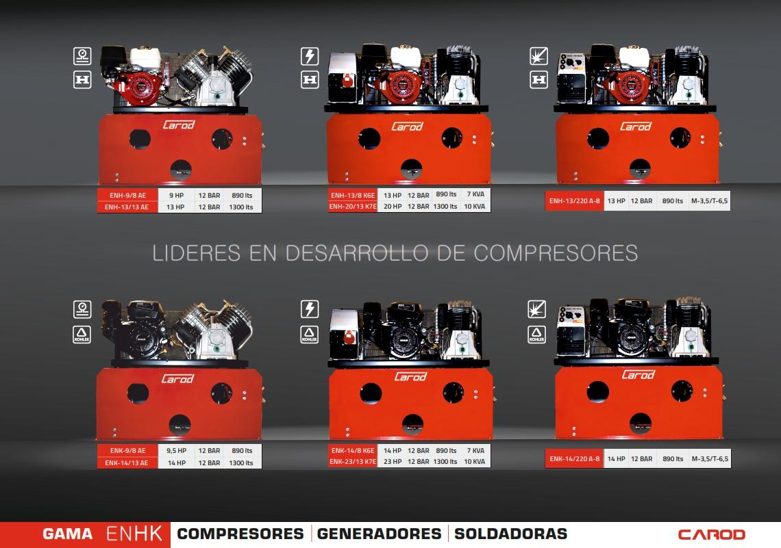 Compresores, Generadores, Soldadoras