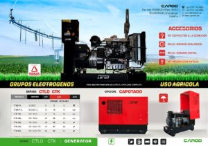 Grupos electrogenos carod uso agricola