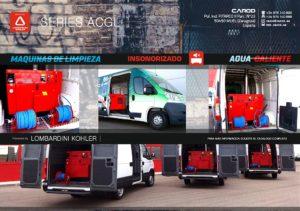 Maquinas de agua HIDROLIMPIADORAS caliente furgon