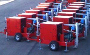 Motobomba diesel carroceria